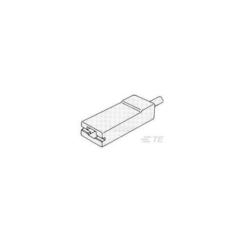 1-1659281-0 - Crimp Terminal Housings, Tab / Receptacle, Receptacle, 1 Positions, Straight, UL 94-HB, Black, Nylon, Carton