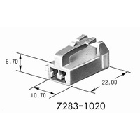 7283-1020 YAZAKI CONNECTOR HOUSING 2P FEMALE