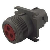 HD10-3-96P - DEUTSCH FLANGE MOUNT RECEPTACLE - 3 CONTACTS SOCKET