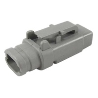 DTM06-2S-E007 - CONNECTOR PLUG HOUSING, 2 POSITION, GREY