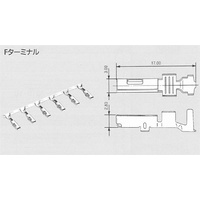 7116-4026 - YAZAKI FEMALE TERMINAL, TIN, 0.85 - 1.25mm