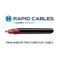 TWIN SHEATH TWO CORE FLAT CABLE